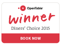 2015 Open Table Diners' Choice Winner