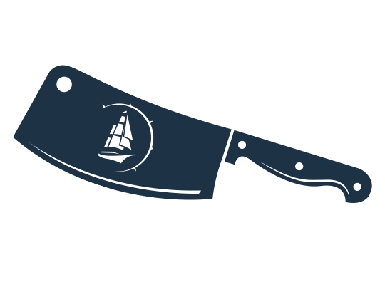 icon of meat cleaver with windjammer logo